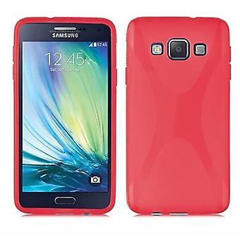 Cadorabo tapauksessa Samsung Galaxy A3 2015 tapauksessa tapauksessa kansi - puhelin kotelo joustava TPU silikoni - silikoni kotelo suojakotelo Ultra Slim Soft Takakansi tapauksessa Puskuri