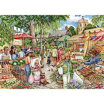 Falcon Deluxe The Farmers' Market Jigsaw Puzzle (1000 pieces)