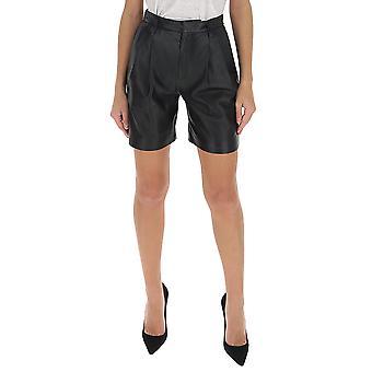 Red Valentino Tr3nh00k4tj0no Women's Black Leather Shorts