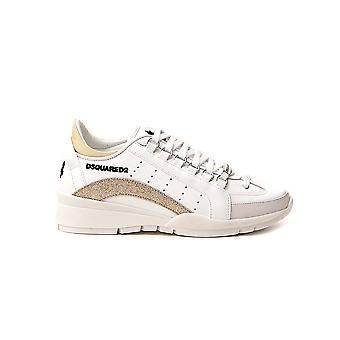 Dsquared2 Snw050510670001m326 Women's White Leather Sneakers