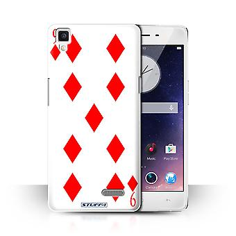 STUFF4 Case/Cover for Oppo R7/9 of Diamonds/Playing Cards