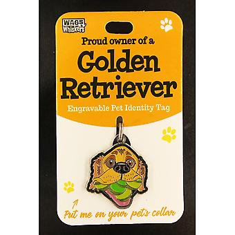 Wags & Whiskers Pet Identity Tag - Golden Retriever