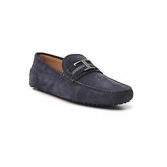 Tod's Xxm0gw0ct50re0u805 Men's Blue Leather Loafers