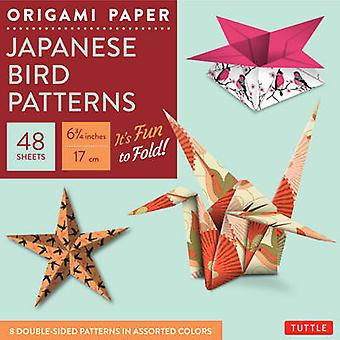 Origami Paper  - Japanese Bird Patterns - Perfect for Small Projects or