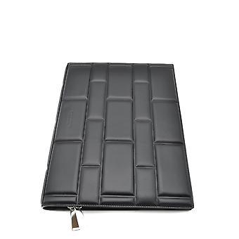 Bottega Veneta Ezbc439002 Men's Black Leather Document Holder