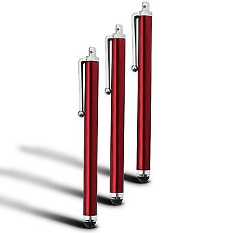 Kingzone one Capacitive Large Touch Screen Stylus Pens 3 Pack (Red)