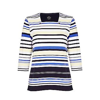 TIGI Navy Striped Top