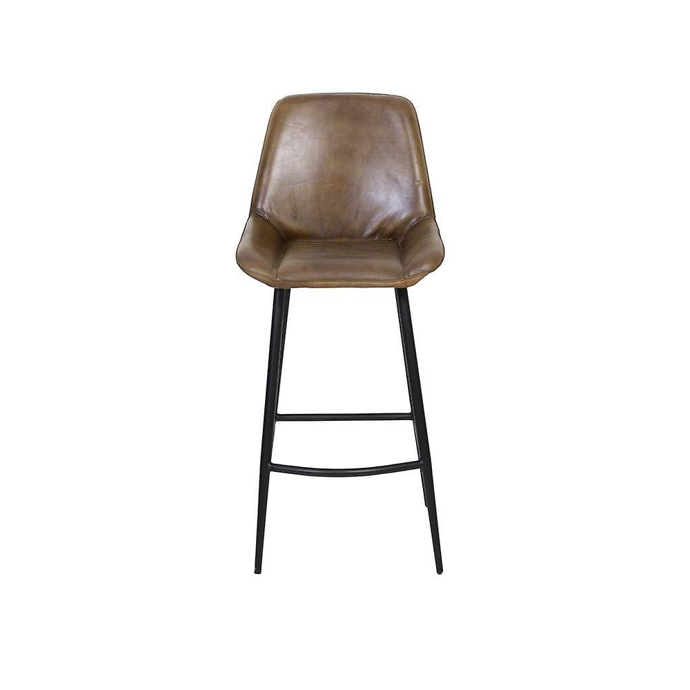 Chaise de bar de lumière et de vie 45x58x105cm Zuko Antique Brown