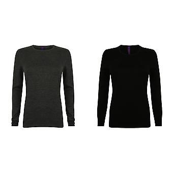 Henbury Womens/Ladies Crew Neck Sweater