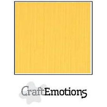 CraftEmotions linen cardboard 100 Sh gold Bulk LC-22 30,5x30,5cm 250gr