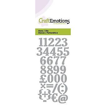 CraftEmotions يموت -- أرقام بطاقة 5x10cm