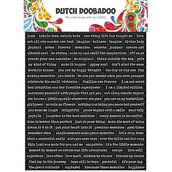 Dutch Doobadoo Dutch Sticker Art A5 Quotes (Eng) 491.200.001