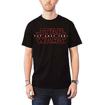 Star Wars T Shirt Last Jedi Episode VIII  Logo new Official Mens Black
