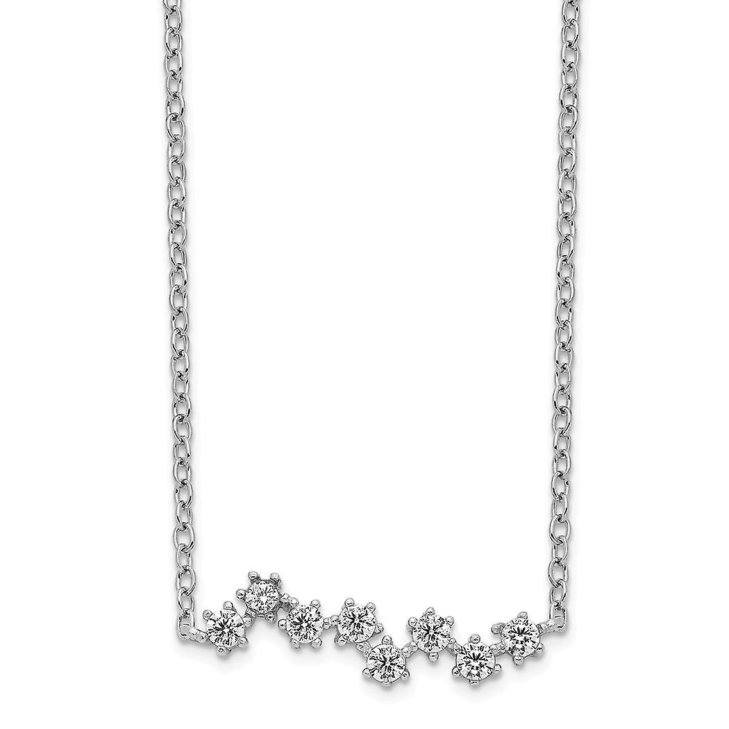 925 Sterling Silver Rhodium plated CZ necklace