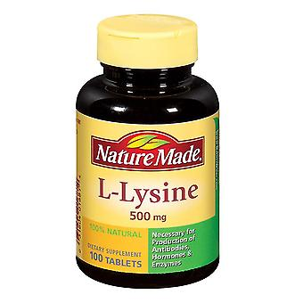 Nature made l-lysine, 500 mg, dietary supplement, tablets, 100 ea