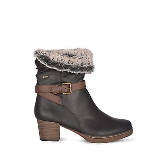 Lotus Relife Charmaine Heeled Mid-Calf Stiefel in schwarz