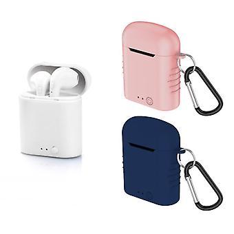 Bluetooth-headset met microfoon Contact Twins Mini 400 mAh Wit