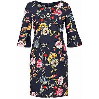Taifun Navy Floral Dress