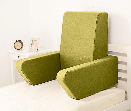 Changement de sofas Una Soft Wool Effet Foam Reading Work Cushion Back Rest - Olive