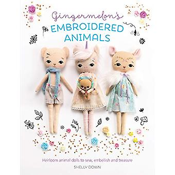 Gingermelon's Embroidered Animals - Heirloom animal dolls to sew - emb