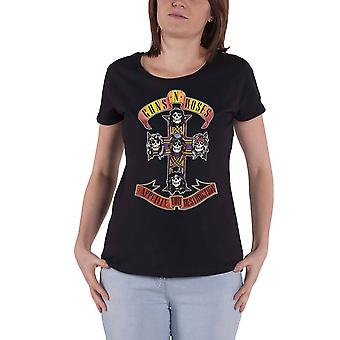 Guns N Roses T Shirt Appetite For Destruction Official Womens Skinny Fit Black
