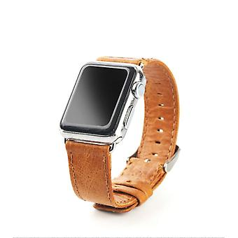 40mm,38mm for Apple Watch Series 1,2,3 and 4 Genuine Leather Oil Wax Strap Brown