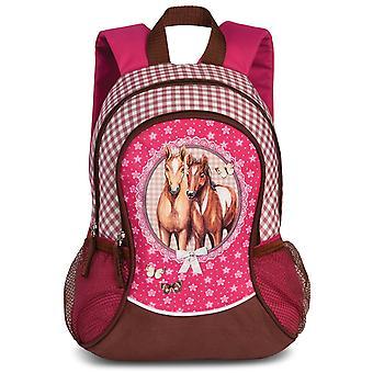 Fabrizio Kids Horses Girls Sac à dos 35 cm, Rose