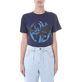 Alberta Ferretti 070316721290 Donne's T-shirt Blue Cotton
