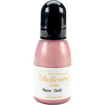 Delicata Pigment Ink Refill .5oz-Rose Gold