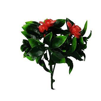 المزهرة الأحمر وردة الجذعية مقاومة للأشعة فوق البنفسجية 30 سم