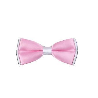 Ragazzi pre-legato regolabile collo Strap Kids Bowtie con fazzoletto In rosa e bianco