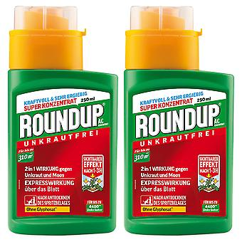 Sparset: 2 x ROUNDUP® AC concentrate, 250 ml