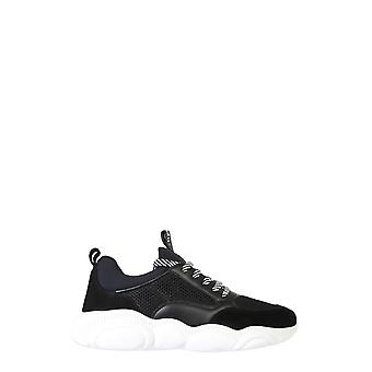 Moschino Mb15103g1bgh100a Men's Black Polyester Sneakers