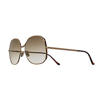 Cutler and Gross 1331 04 Gold/Brown Gradient Sunglasses