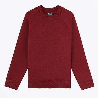 A.P.C.  - Wicklow - Crew Knitted Sweater  - Red