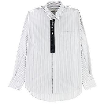 Givenchy Poplin Shirt Tape Weiß/Schwarz