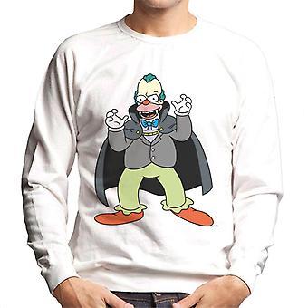 The Simpsons Vampire Krusty Halloween mænd ' s sweatshirt