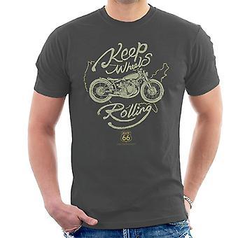 Route 66 Keep Wheels Rolling Men's T-Shirt