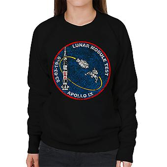 NASA Apollo 9 Mission Badge Distressed Women's Sweatshirt