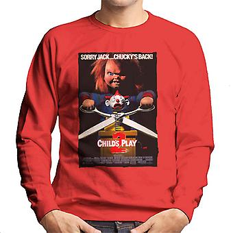 Chucky Childs Play 2 Sorry Jack Chucky Is Back Men's Sweatshirt