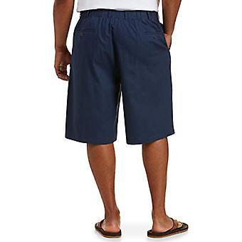 أساسيات الرجال & apos&ق كبيرة & طويل القامة مزيج الكتان 11 & اقتباس قصيرة تناسب من قبل DXL, البحرية, 4XL