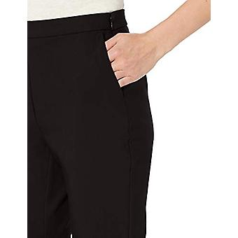 Brand - Lark & Ro Women's Stretch Crop Kick Flare Pant - Curvy, Black,...
