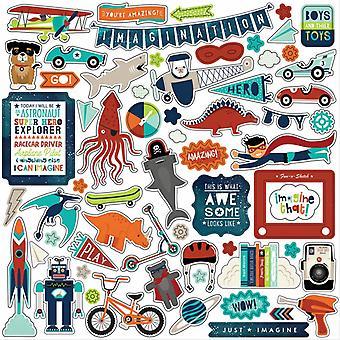 Echo Park Imagine That Boy 12x12 Inch Element Sticker