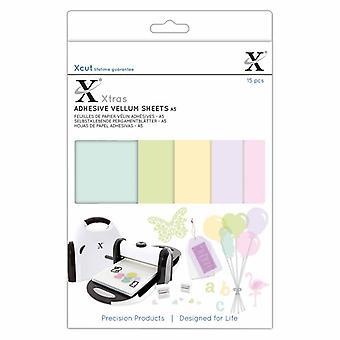 Xcut Xtra's A5 Adhesive Vellum Sheets Colored (15pcs) (XCU 174424)