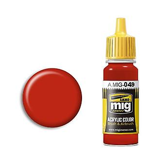 Ammo by Mig Acrylic Paint - A.MIG-0049 Red (17ml)