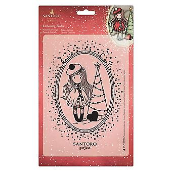 Gorjuss Embossing Folder A5 You Turn My World Upside Down