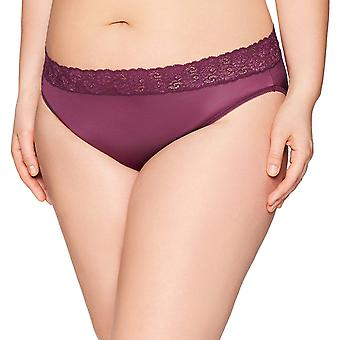 Arabella Women's Plus Size Soft Microfiber Panty with Lace Waist, 3 Pack,Dese...