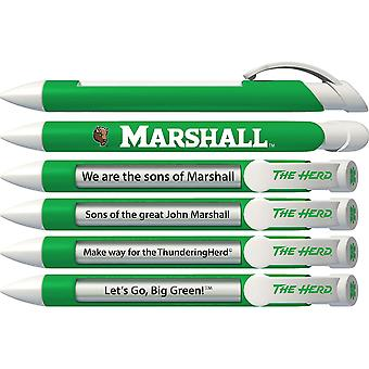 Greeting Pen College Pen- Marshall University Braggin' Rights Rotating Message 6 Pen Set 20571