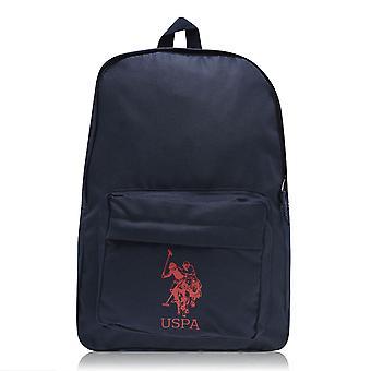 US Polo Assn Unisex Horseman Backpack Zip Closure Pockets Bag Back Pack