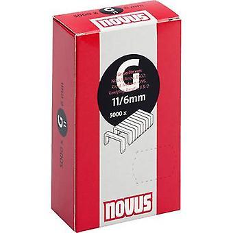 Type 11 flat wire staple 5000 pc(s) Novus 042-0527 Clip type 11/6 Dimensions (L x W) 6 mm x 10.6 mm